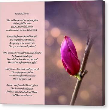 Summer Flowers Canvas Print by Debbie Nobile