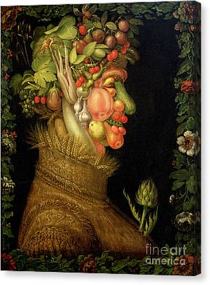 Summer Canvas Print by Giuseppe Arcimboldo
