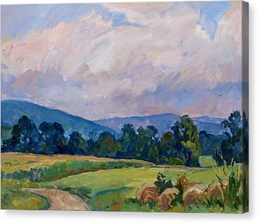 Summer Haze Berkshires Canvas Print by Thor Wickstrom