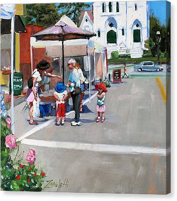 Summer In Hingham Canvas Print by Laura Lee Zanghetti