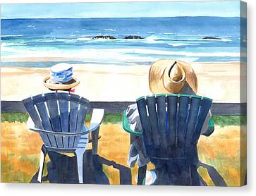 Summer In Lincoln City Canvas Print by Melody Cleary