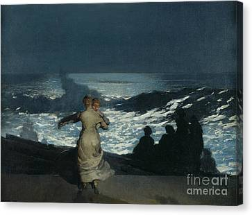 Summer Night Canvas Print by Winslow Homer