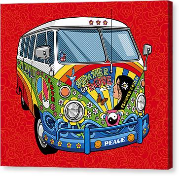 Summer Of Love Canvas Print by Ron Magnes