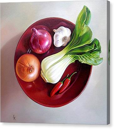 Summer Plate 2 Canvas Print by Elena Kolotusha