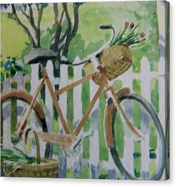 Summer Ride Canvas Print by Florene Welebny