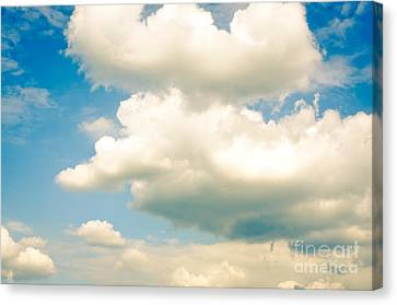 Summer Sky Blue Sky White Clouds Canvas Print by Andy Smy
