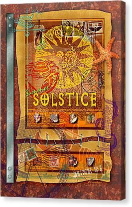 Summer Solstice Canvas Print by Ernestine Grindal