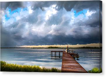 Summer Storm Blues Canvas Print by Karen Wiles
