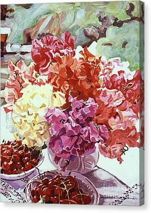 Summer Sweet Cherries Canvas Print by David Lloyd Glover