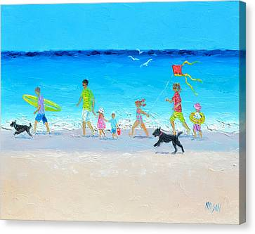 Summer Vacation Time Canvas Print by Jan Matson