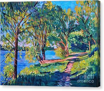 Summer's Lake Canvas Print by David Lloyd Glover