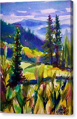 Summertime View From Nelson Sold Original Prints Available Canvas Print by Therese Fowler-Bailey