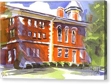 Summery Afternoon Sunshine At The Courthouse Canvas Print by Kip DeVore