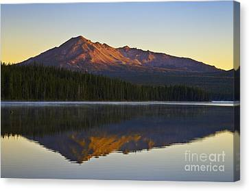 Summit Lake And Diamond Peak Canvas Print by Greg Vaughn - Printscapes
