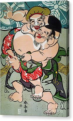 Sumo Wrestling Canvas Print by Granger