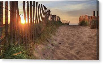 Sun And Sand Canvas Print by Lori Deiter