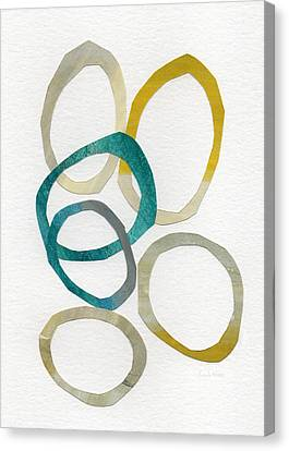 Sun And Sky- Abstract Art Canvas Print by Linda Woods