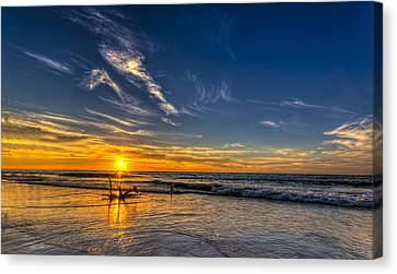 Sun And Surf Canvas Print by Marvin Spates