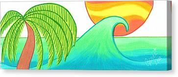 Sun And Surf Shop Logo Canvas Print by Geree McDermott