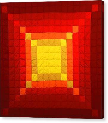 Sun Burst Canvas Print by Mildred Thibodeaux