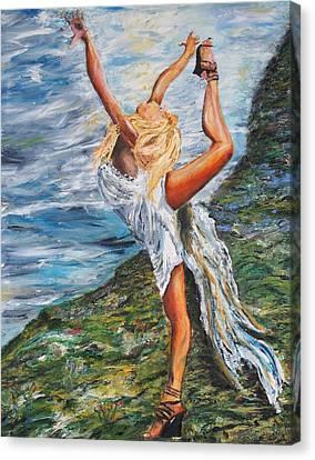 Sun Dancer Nastia Canvas Print by Gregory Allen Page