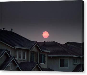 Sun Has Gone Dark Canvas Print by Donna Blackhall