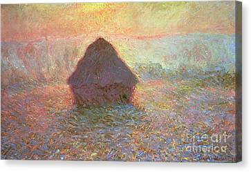 Sun In The Mist Canvas Print by Claude Monet