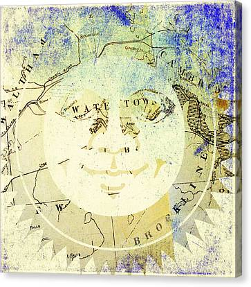 Sun In Watertown Mass Canvas Print by Brandi Fitzgerald