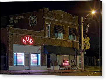 Sun Records Studio The Birthplace Canvas Print by Everett