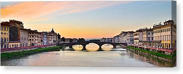 Sun Sets On Florence Canvas Print by Frozen in Time Fine Art Photography