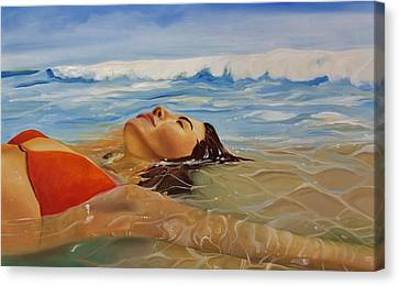 Sunbather Canvas Print by Crimson Shults