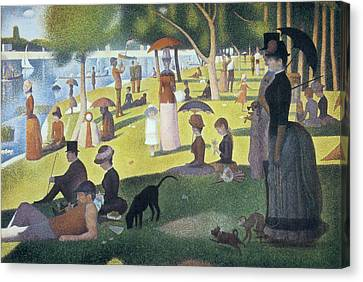 Sunday Afternoon On The Island Of La Grande Jatte Canvas Print by Georges Seurat