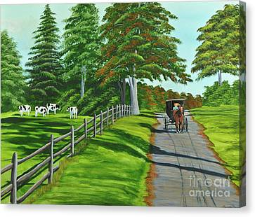 Sunday Drive Canvas Print by Charlotte Blanchard