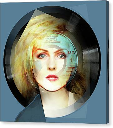 Sunday Girl - Debbie Harry Portrait Canvas Print by Big Fat Arts