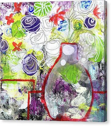 Sunday Market Flowers 3- Art By Linda Woods Canvas Print by Linda Woods