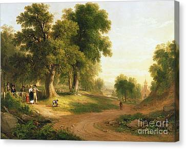 Sunday Morning Canvas Print by Asher Brown Durand