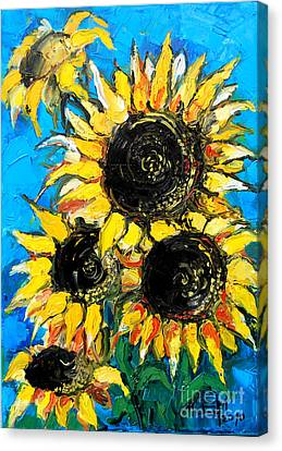 Sunflower Bouquet Canvas Print by Mona Edulesco