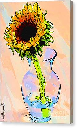 Sunflower Color Canvas Print by rdm-Margaux Dreamations