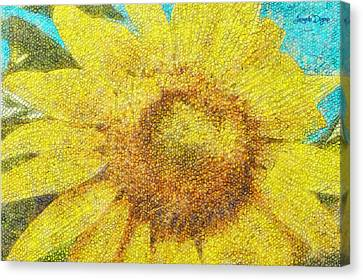 Sunflower - Da Canvas Print by Leonardo Digenio
