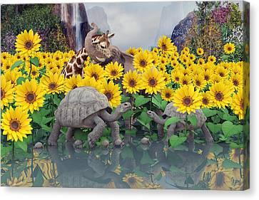 Sunflower Daydream  Canvas Print by Betsy C Knapp