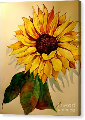 Sunflower Flames Canvas Print by Jacquie King