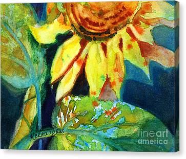 Sunflower Head 4 Canvas Print by Kathy Braud
