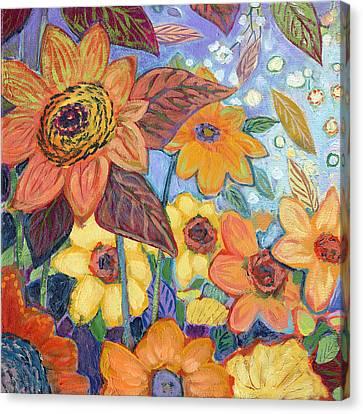 Sunflower Tropics Part 1 Canvas Print by Jennifer Lommers