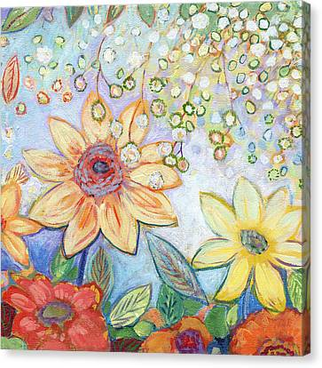 Sunflower Tropics Part 2 Canvas Print by Jennifer Lommers