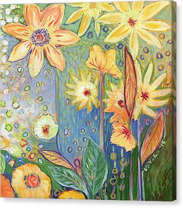 Sunflower Tropics Part 3 Canvas Print by Jennifer Lommers