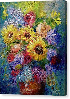 Sunflowers Etc. Canvas Print by Marina Wirtz