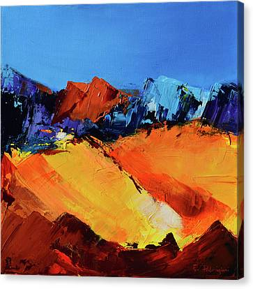 Sunlight In The Valley Canvas Print by Elise Palmigiani