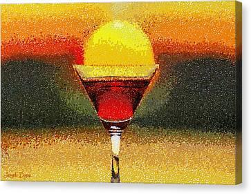 Sunned Wine - Da Canvas Print by Leonardo Digenio