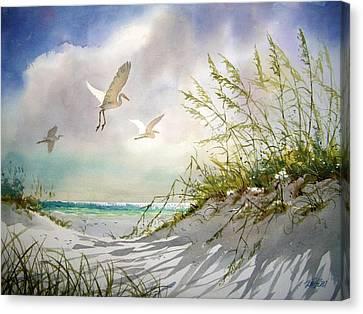 Sunny Dune Canvas Print by Tom  Bond
