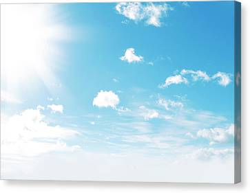 Sunny Sky Canvas Print by Les Cunliffe